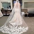 Bride Veils White /Ivory Tulle 3 Meters veu de noiva Long Wedding Veils Bridal Accessories Lace Bridal Veil S849