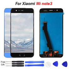 лучшая цена mi note 3 lcd screen For xiaomi note 3 5.5inch Lcd Display Touch Screen with Fingerprint-Key Part for Xiaomi Note3 display