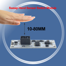 XK-GK-4010A DC 12 В короткое расстояние сканирования сенсор развертки ручной сенсор переключатель модуль 36 Вт 3A постоянное напряжение для Авто умный дом