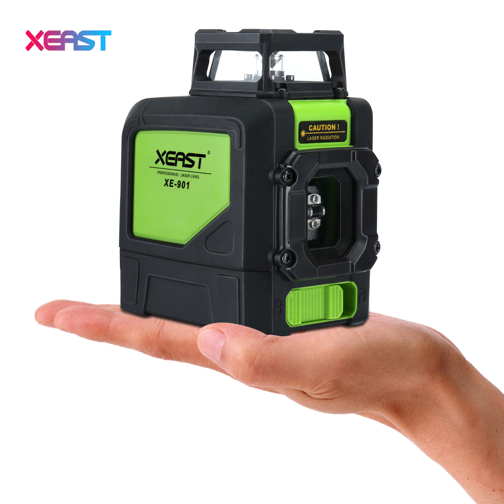 XEAST XE-901 Red 3D Laser Level Meter 5 Lines 360 Degrees Self Leveling Mini Portable Instrument  Red Laser Beam laser cast line instrument marking device 5 lines the laser level
