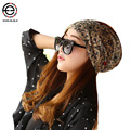 New spring summer Hats & Caps  Skullies & Beanies women and men hat cap Knitted hat 3 ways wearing  Casual beanies hats