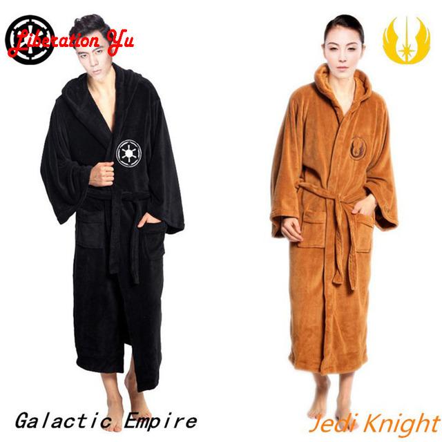 Star Wars Imperio Galáctico y Jedi Knight negro y marrón tejido de lana de coral albornoces ropa de dormir pijamas trajes de cosplay