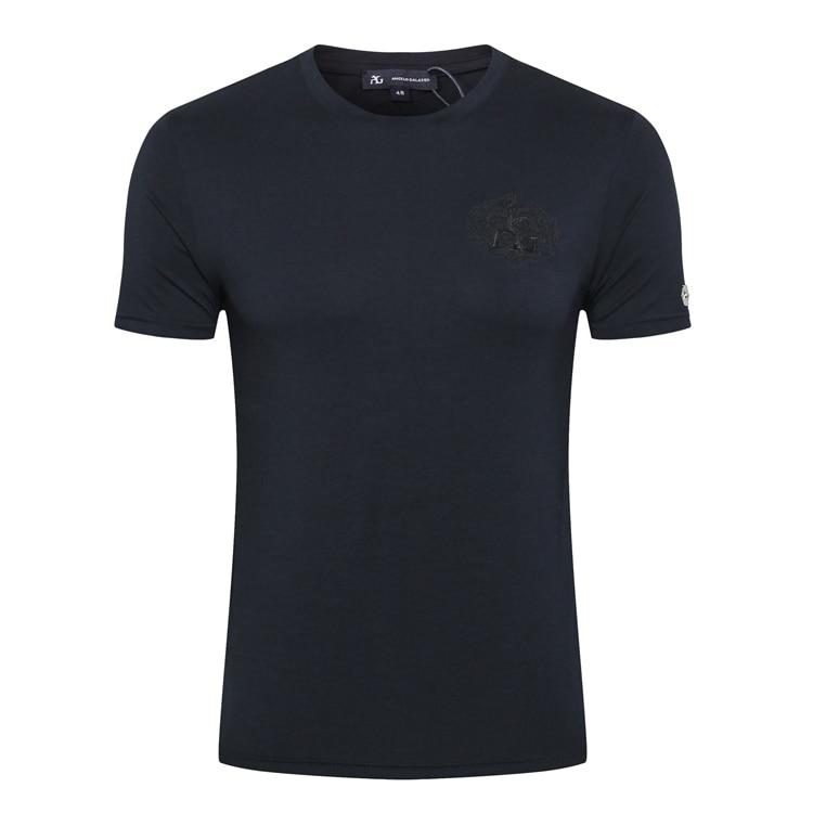 มหาเศรษฐีชายเสื้อ T shirt 2019 ฤดูร้อนใหม่แฟชั่นสบายๆบาง England comfort elegant goemetry ผ้าฝ้าย O   Neck จัดส่งฟรี-ใน เสื้อยืด จาก เสื้อผ้าผู้ชาย บน   2