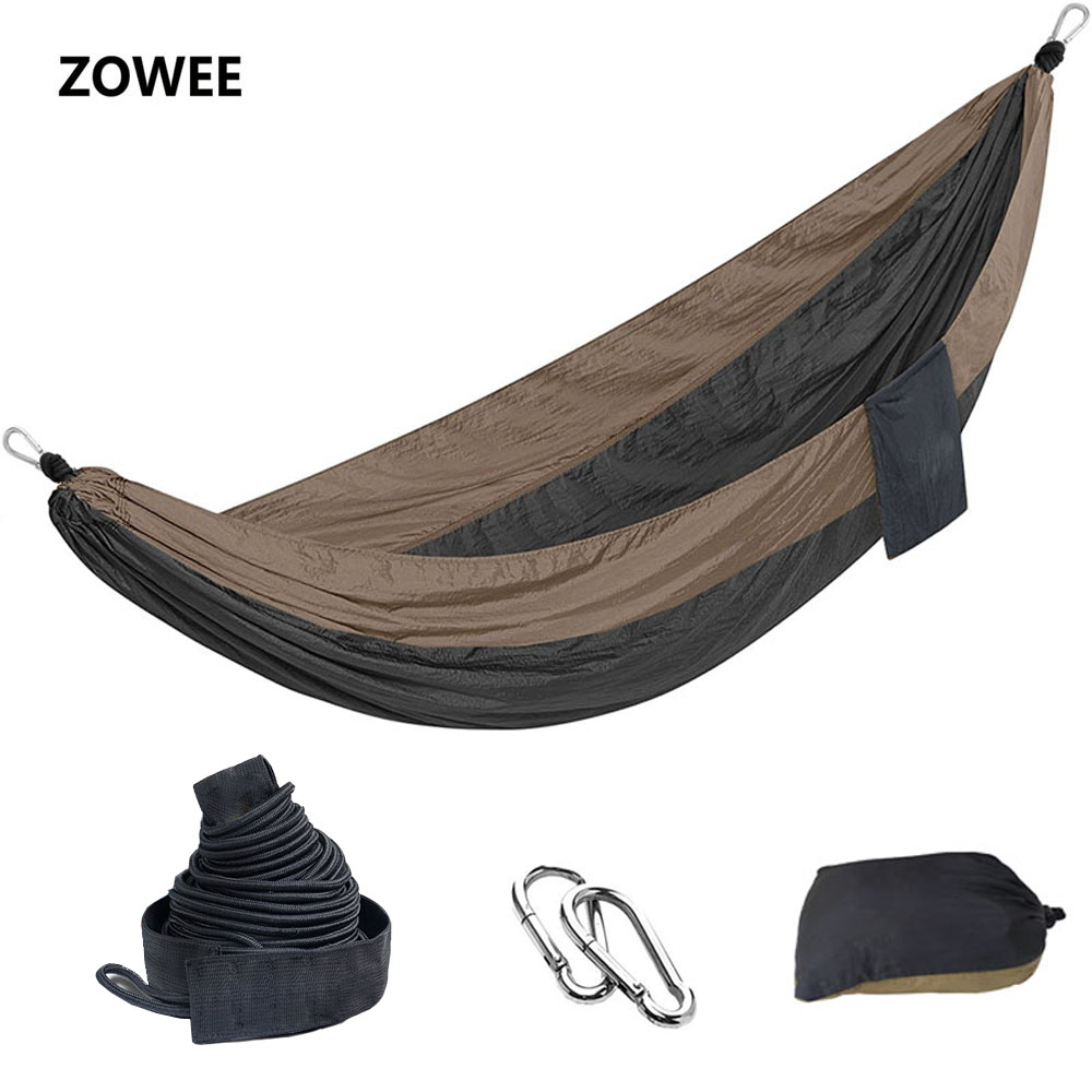 Outdoor Parachute Hammock Camping Bed Iqammocking Hammock Portable Outdoor Sleeping Hammock Bad Hamaca with tree friendly Belts 2 people portable parachute hammock outdoor survival camping hammocks garden leisure travel double hanging swing 2 6m 1 4m 3m 2m