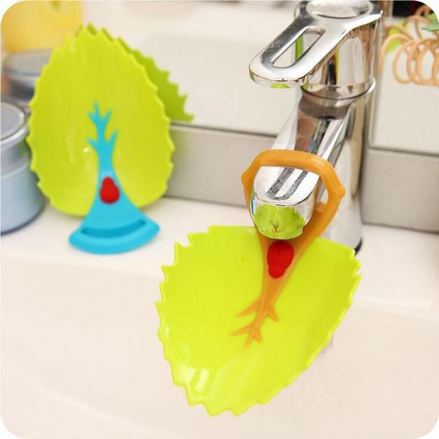 Creative Kid Baby Kraan Extender Wassen Handen Badkamer Wastafel Mooie Bladvorm Praktische Badkamer Gadgets ZHH-093
