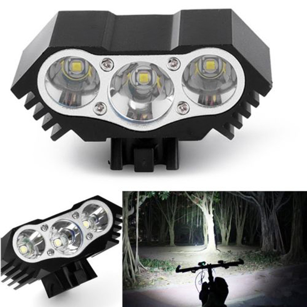 High Quality 7500 Lumen 3X T6 LED Zoom Flashlight Mini Torch LED Cycling MTB Road Bike Front Head Bicycle Lights With Mount