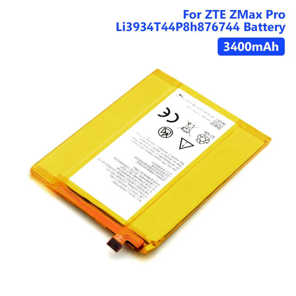 Genuine Lithium Phone Bateria Batteries 3400mAh Battery Li3934T44P8h876744 Rechargeable For ZTE ZMax Pro Z981 Replacement(China)