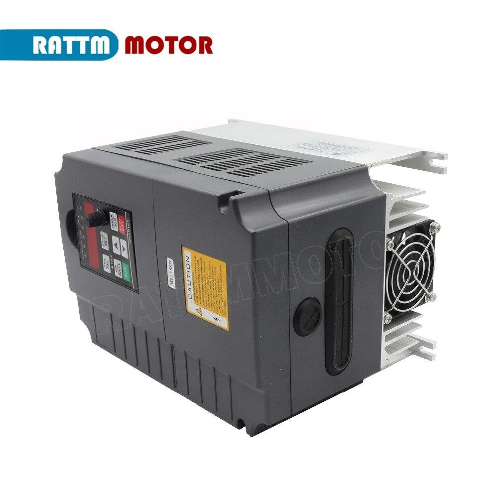 7.5KW 380VAC falownika VFD zmienna częstotliwość 3HP wejście 3HP wyjście 17A 400Hz silnik wrzeciona cnc kontrola prędkości