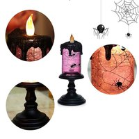 Halloween Spider Tornado LED Lighting Flameless Candle Battery Operated