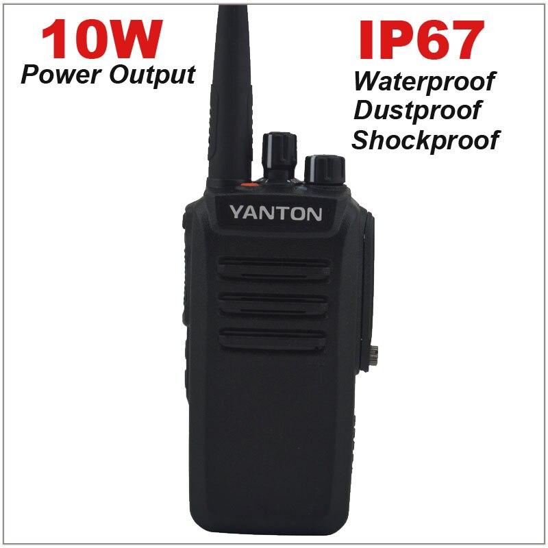 UHF 400-480MHz 10W Power Output IP67 WATERPROOF FM Portable Two-way Radio Yanton T-850UHF 400-480MHz 10W Power Output IP67 WATERPROOF FM Portable Two-way Radio Yanton T-850