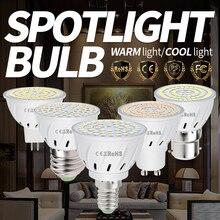 CanLing GU10 LED Lamp E27 Spotlight Bulb E14 Lampara 48 60 80leds 220V GU 10 Bombillas Led MR16 Spot Light B22 Lampada 5W 7W 9W