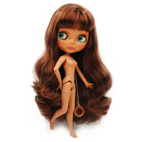 Blyth BJD doll, Blyth Doll Nude Customized Coffee Muscle Dolls Can Changed Makeup and Dress DIY, 12 Inch Ball Jointed Dolls 01