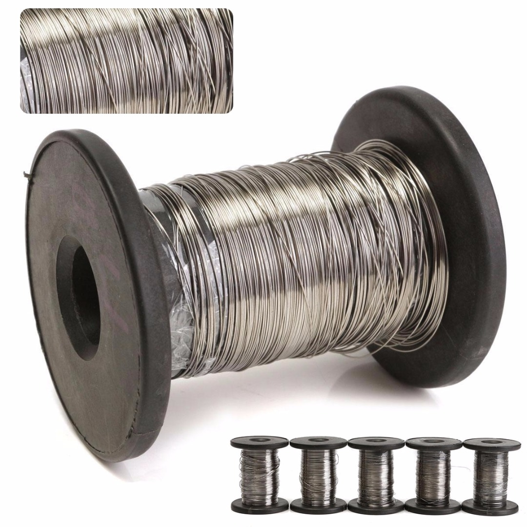 Mayitr 304 Stainless Steel Roll Wire 30M Single Bright Hard Wire Cable Rope  Diameter 0.2mm/0.3mm/0.4mm/0.5mm/0.6mm New 3mm 7 7 stainless steel 316 wire rope 7x7 strand core seaworthy marine grade