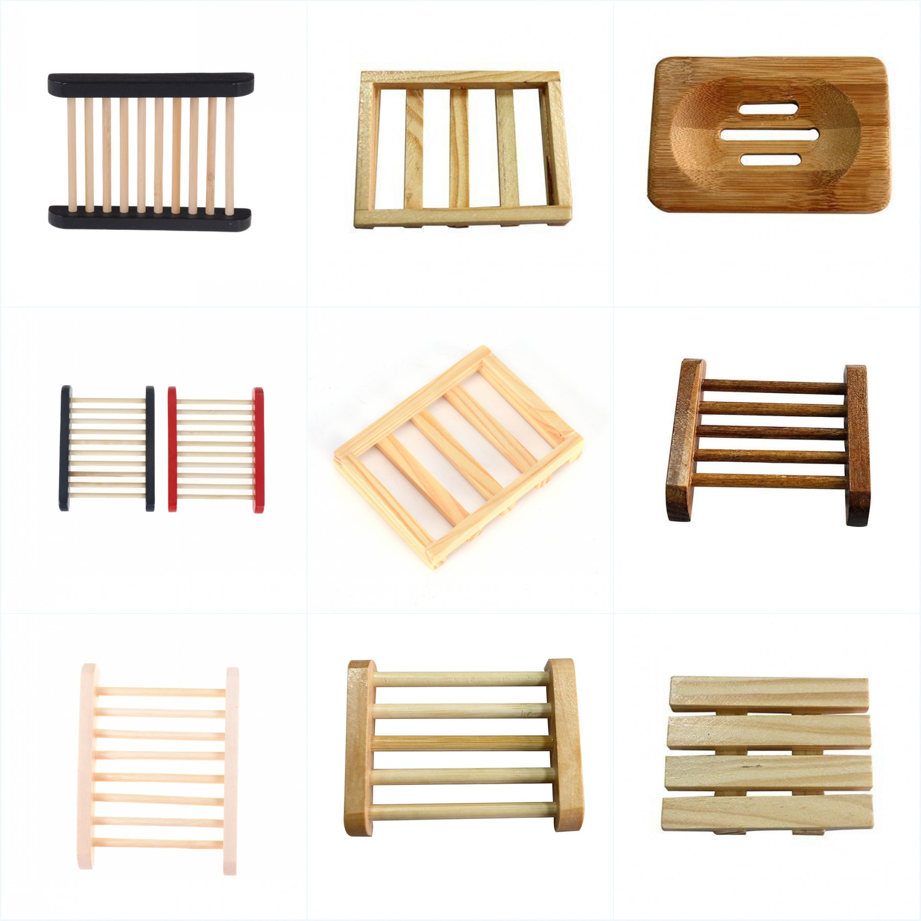 Natural Carbide Wood Soap Dish Shower Plate Bathroom Soap Holder Wooden Soap Container Travel Wood Soap Box