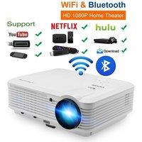 Мобильный ЖК дисплей светодиодный проектор для android устройств Wi Fi Bluetooth дома Кино проектор Full HD видеопроектор для смартфон ноутбук ПК Xbox