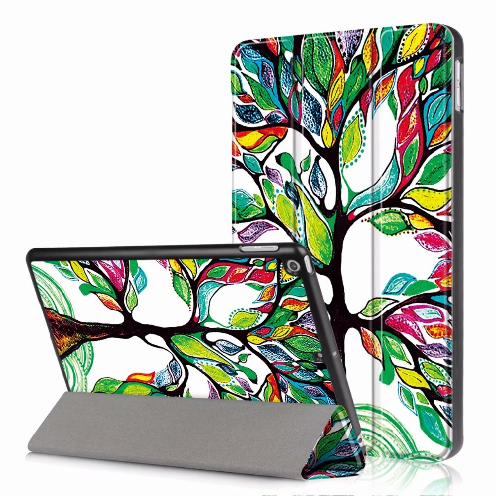 Smart Case Cover For Apple New iPad 9.7 2017 2018 5th 6th Generation Funda cases A1822 A1954 Stand Shell Cover+Stylus+film