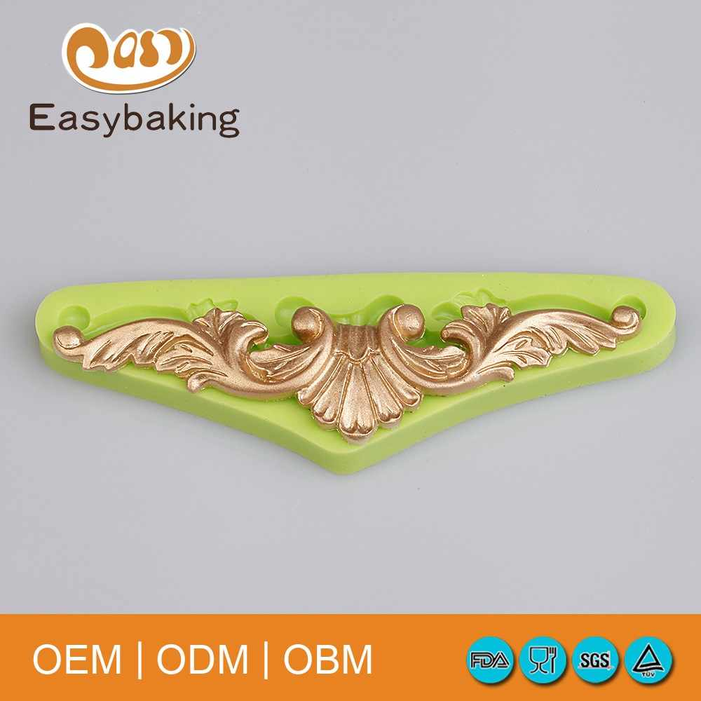 Baroque Vintage Leaves Swirls Silicone Mould Kitchen Accessories Silicone Cake Mold Fondant Cake Decorating Tools