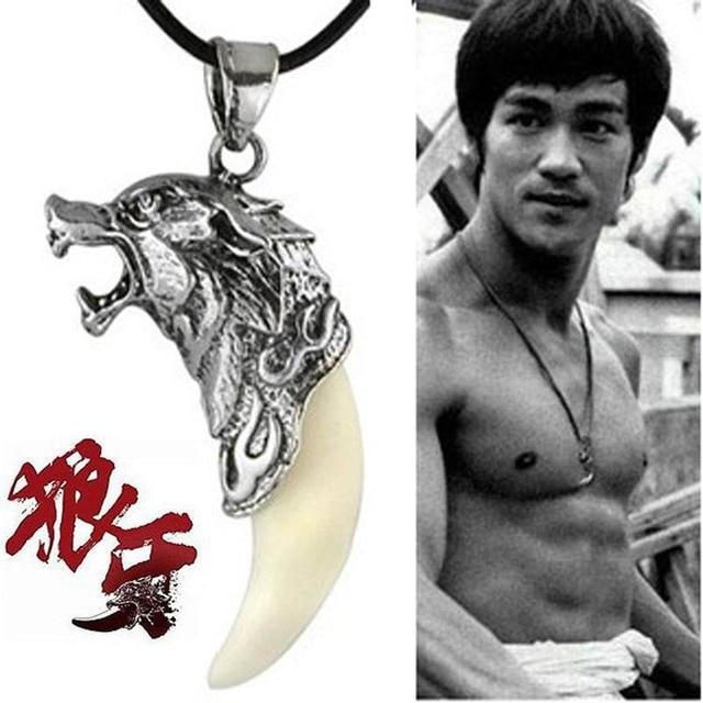 Nouveaux hommes Antique loup Fang dent pendentif collier Vintage loup dent Dragon alliage pendentif collier bijoux de mode