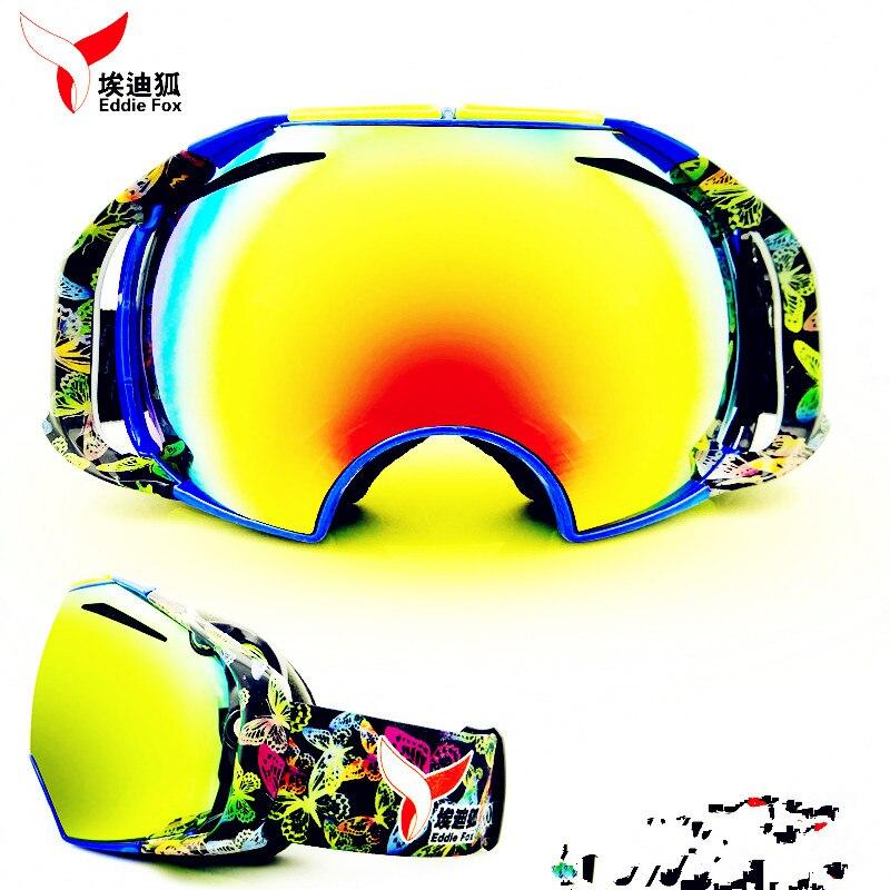 Sk017  nuevos hombres y mujeres Gafas de Esquí doble esférica antivaho contra el