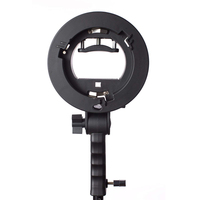 Handheld Grip S Type Bracket Holder with Bowens Mount for Speedlite Flash Snoot Softbox Beauty Dish Photography Accessories