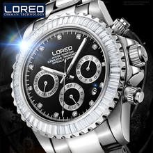 LOREO Men'S Skeleton Watch Antique Full Stainless Steel Strap Waterproof Automatic Business Military Mechanical Wristwatch J82