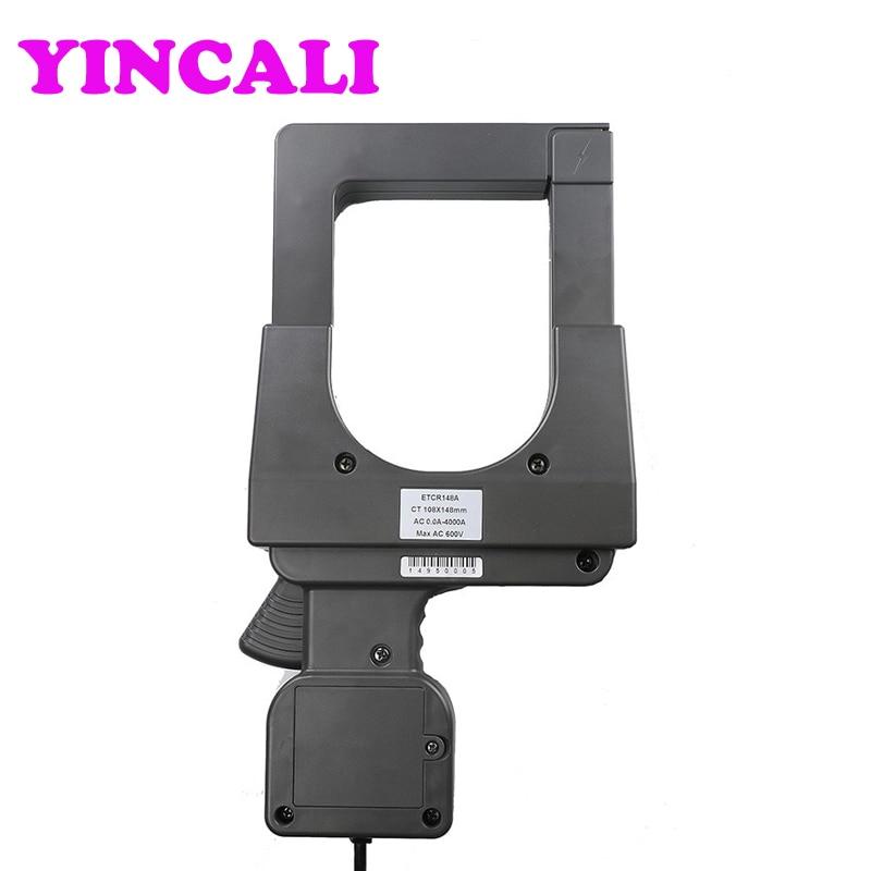 High Precision ETCR148A 108mm*148mm Super large Caliber Clamp Current Sensor AC Current Sensor of Range 0~4000A - 4