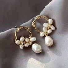 купить Pearl Earrings Female Long Flower Earrings Fashion Personality Student Earrings S925 Silver stud Earrings по цене 150.45 рублей
