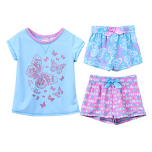 New Kids pajamas children summer pajamas girl cartoon sleepwear kids sleeping suit short clothes suit 3