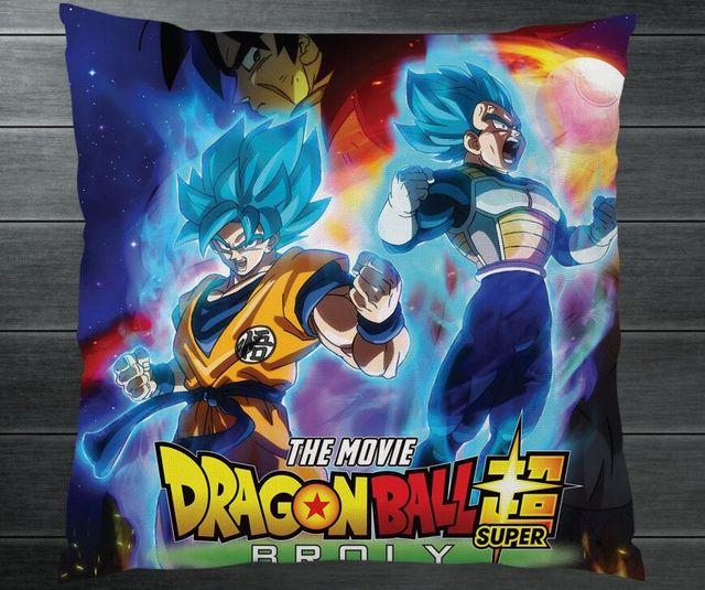 b48593c3c4d5 2019 Movie Dragon Ball Super Broly DBZ Goku Vegeta Fanart Two Side  Pillowcase Pillow Case Cover