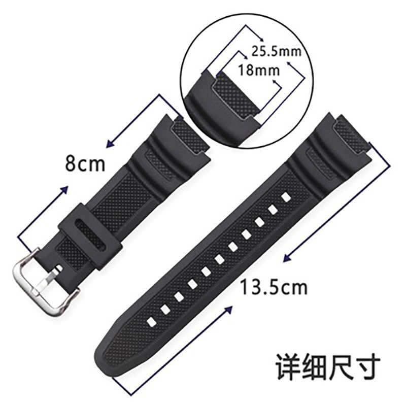 שחור החלפת צמיד רצועת עבור CASIO הדיגיטלי שעון AQ-S810W SGW-300H SGW-400H AU גומי רצועת שעון אלקטרוני שעונים