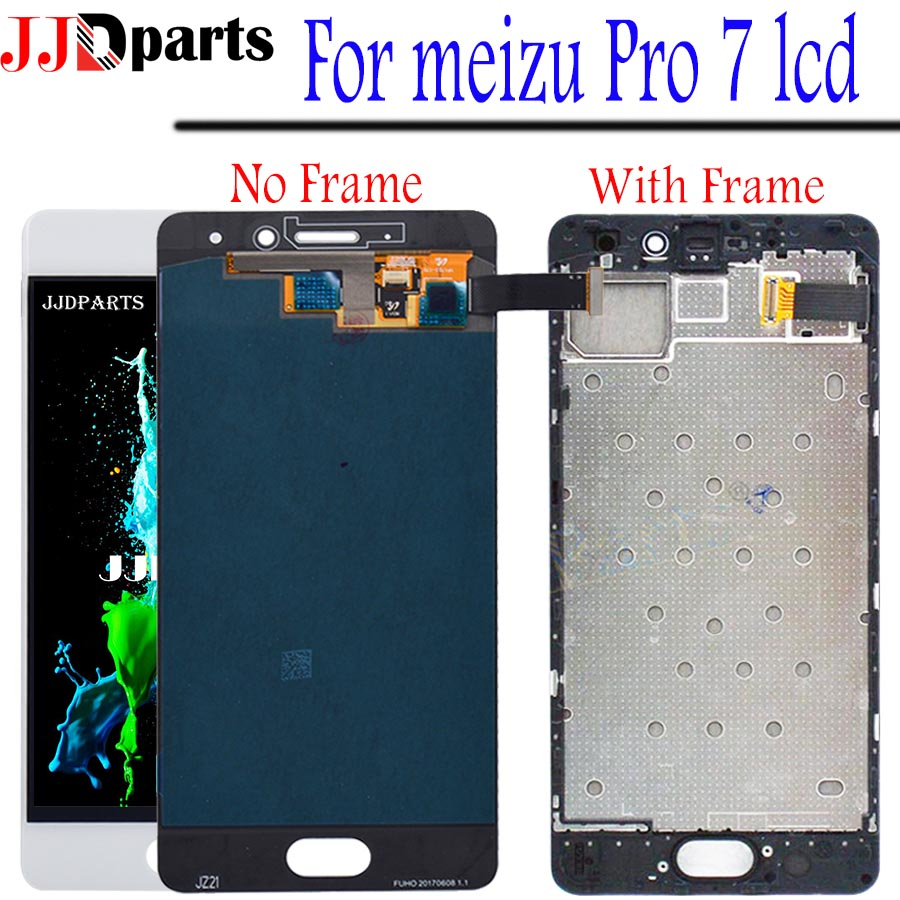 New Meizu Pro 7 LCD Touch Screen Digitizer Assembly meizu pro 7 display with frame For