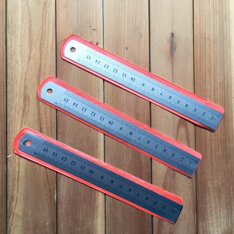 1 PCS New 15cm Measuring Straight Tool Promotional Gift Stationery Student Prize Stainless Steel Student Art Office Rule