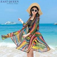 Sexy women's kimono cardigan in summer multicolor floral chiffon beach Japanese kimono blouse shirt AA3389 F