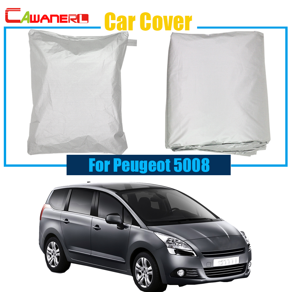 Cawanerl Outdoor Car Cover UV Anti Rain Sun Snow Preventing Protector Cover Dustproof For Peugeot 5008
