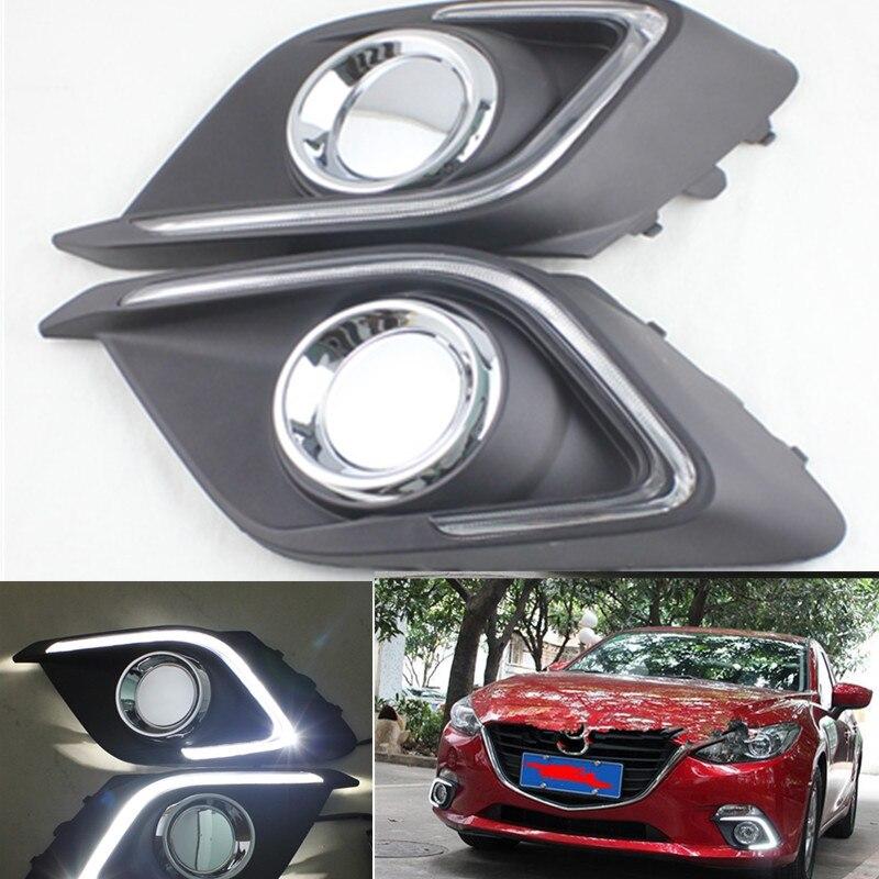 FSYLX led drl daytime running light for Mazda 3 axela 2014 2015 12V LED car DRL daytime running lights for mazda3 Axela cheetah for mazda 3 6 atenza axela daytime running light