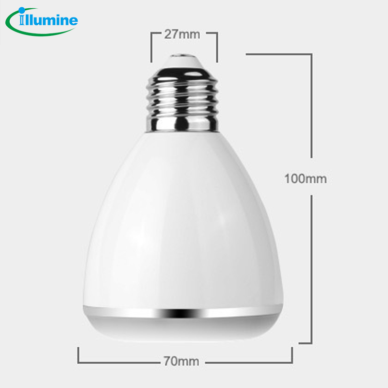 Illumine 2006 BL-08A Bluetooth speakers with E27 interface LED Bluetooth intelligent music lamp bulb