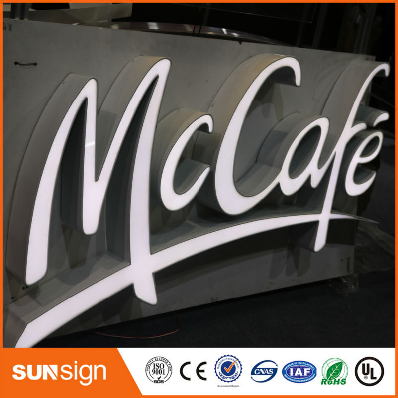 Diplomatic Custom Hot Sale Advertising Frontlit Led Sign Letters Utmost In Convenience