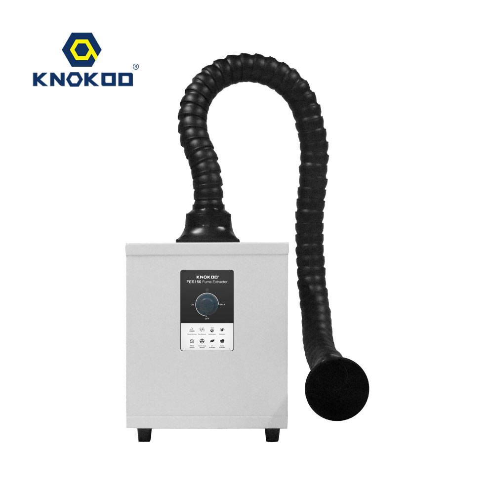 High Quanlity MINI Knob Adjustment Smoke Absorber Single Channel Soldering Smoke Purify Machine FES150 Fume Extractor Welding