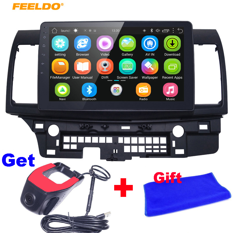 FEELDO 10inch Bigger HD Screen Android 6.0 Quad Core Car Media Player With GPS Navi Radio For Mitsubishi Lancer EX(2007-present image