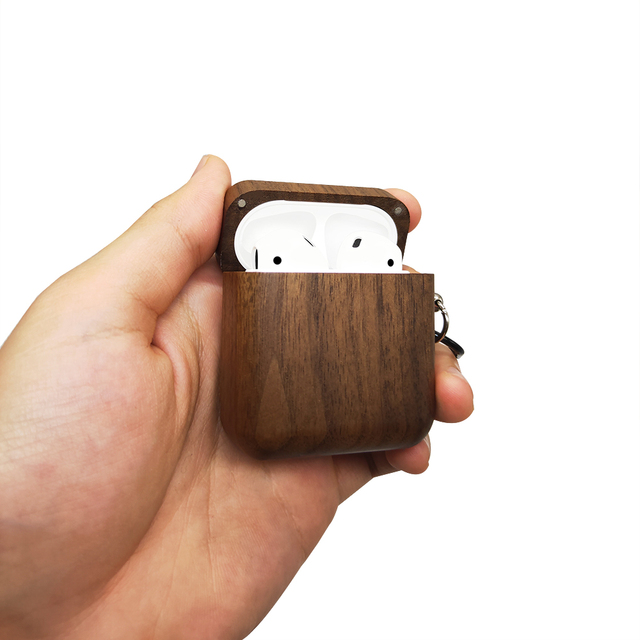 100% Real Wooden Covers Case for Airpods TWS Bluetooth i10 i12 Case Wood Case Dust-proof Natural Handmade Case for Apple Airpods