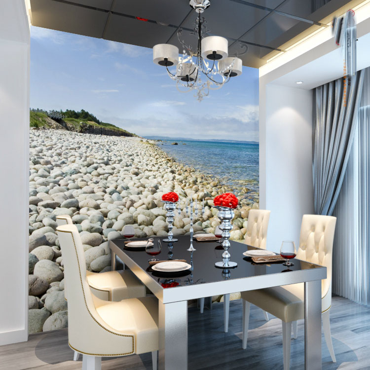 Large Sea Cobblestone Stone 5D Papel Mural 3d Wall Mural Wallpaper for Sofa Background Dinning Room 3d Photo Murals Wall paper