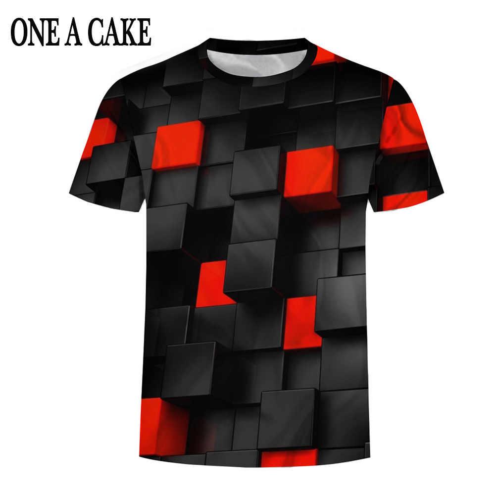 Черный/красный квадраты короткий рукав 3d печатная забавная мужская футболка Повседневная летняя футболка для мужчин/женщин топы футболки бренд плюс размер одежда