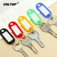 10pcs Key Rings Plastic Split Ring ID Key Tags Labels Key Chains Key Rings Numbered Name Baggage Luggage Tags 50 in 1 assorted color plastic key id label name card tags keychains keyrings