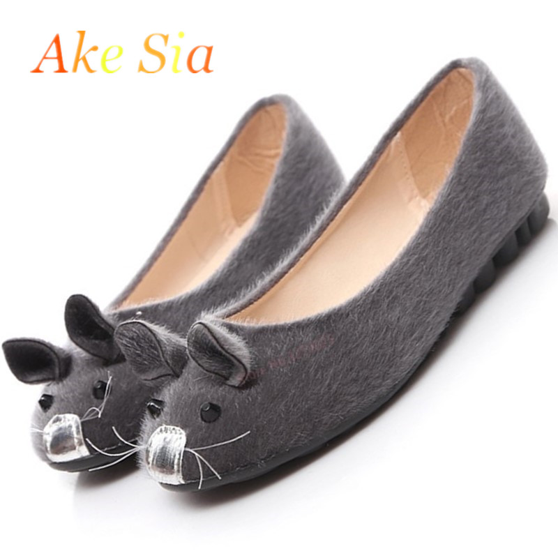2018 high quality Flock Flat with low heel Shallow mouth round head women Single pedal shoes fashion casual shoes women H111 minika breathable mesh lace shoes women thick bottom shallow mouth women casual shoes slip on flat shoes women high quality