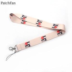 A0422 Patchfan симпатичный ремешок с надписью «i love cat» для ключей, ID телефона, usb-держатель для значков, лямки для телефона
