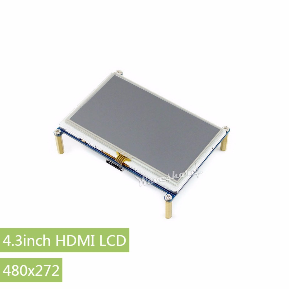 RPi 4.3inch HDMI LCD Resistive Touch Screen 480 *272 Designed for all Revision of Raspberry Pi with Back light control 3 5 inch touch screen tft lcd 320 480 designed for raspberry pi rpi 2