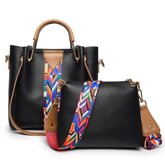 2799cfcbe127c النساء مركب حقيبة بو الجلود حقائب الكتف عارضة حمل حقائب 2018 جديد تصميم  الأزياء الفاخرة الإناث