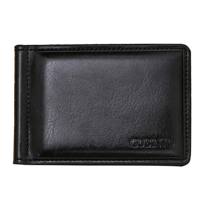 Célèbre GUBINTU marque hommes en cuir pince à billets portefeuille avec aimant de poche portable homme portefeuille avec serrure à carte