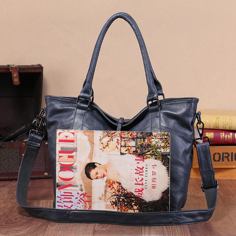 Women's Handbags Large Capacity Casual Tote High Quality Tassel Shoulder Bags Ladies Crossbody Bag 100% Soft Genuine Leather Bag