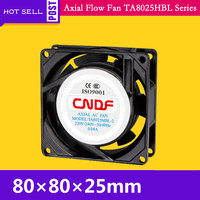 115VAC 50HZ 0.14A 15W 2300RPM Cooling Radiator Axial Fan TA8025MBL 1 Ventilation and Air Change FZY Small ventilator